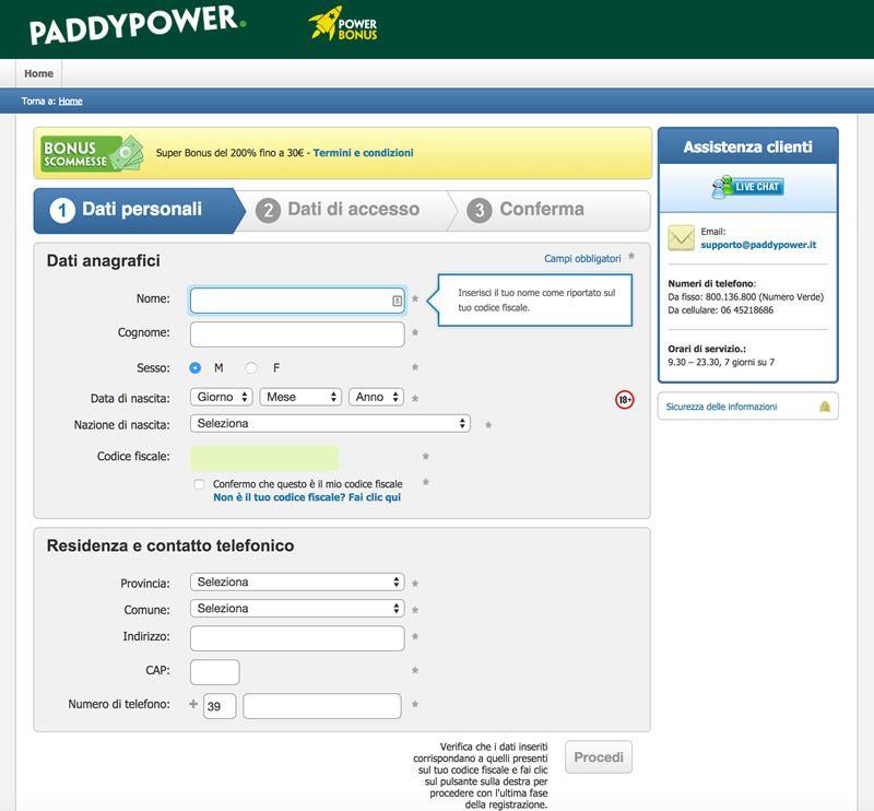 registrazione-paddypower