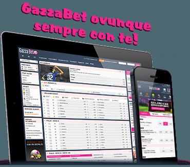 App Gazzabet per dispositivi mobili