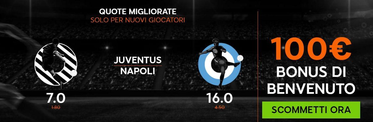 Promo di 888Sport per la partita Juventus Napoli !