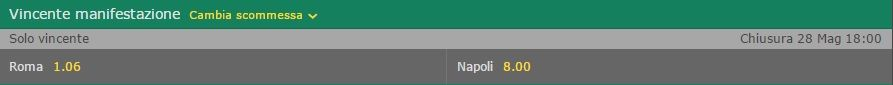 Quote Vincente Senza Juventus Bet365