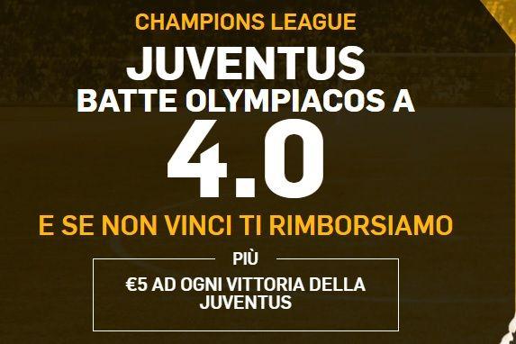 Promo di Betfair per la partita Juventus Olympiacos!